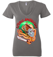 Octopus Apothecary: Murder on 13th Street: Bella Ladies Deep V-Neck