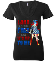 Land of the Free - Bella Ladies Deep V-Neck
