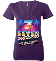 Seven Dimensions - Maggie, New Retro - Bella Ladies Deep V-Neck