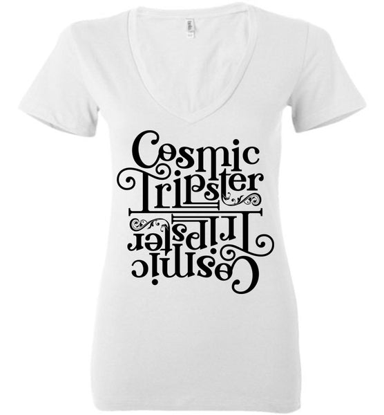Salvesen: Cosmic Tripster: Bella Ladies Deep V-Neck