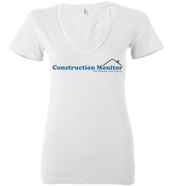 Construction Monitor - Bella Ladies Deep V-Neck
