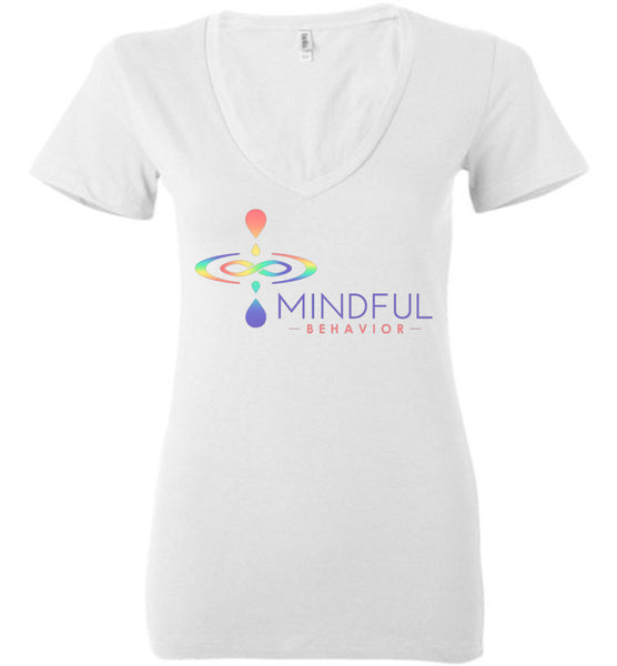 Mindful Behavior Classic - Ladies Deep V-Neck