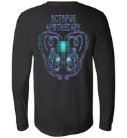 Octopus Apothecary - Xenon Canvas Long Sleeve T-Shirt