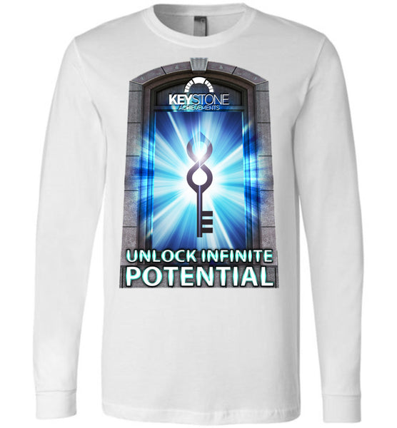 Keystone Achievements: Unlock Infinite Potential: Canvas Long Sleeve T-Shirt