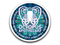 Octopus Apothecary - Tie-Dyed Decal