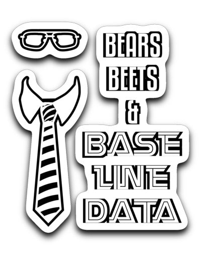 Bears, Beets & Baseline Data sticker A