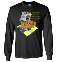 Rick Roll with Lyrics - Long Sleeve T-Shirt