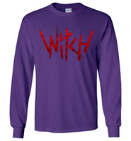 Witch - Red Text Long Sleeve T-Shirt