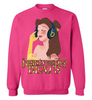 Beauty and Her Beats: Gildan Crewneck Sweatshirt