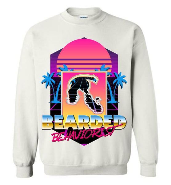 Retro Bearded Behaviorist - Gildan Crewneck Sweatshirt