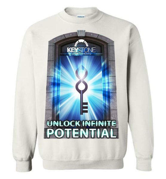 Keystone Achievements: Unlock Infinite Potential: Gildan Crewneck Sweatshirt