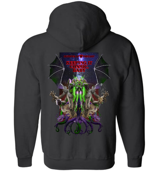 Octopus Apothecary: C'thul'hu, Keeping It Cosmic, Baby: Gildan Zip Hoodie