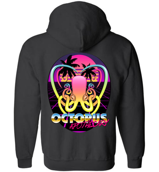 Octopus Apothecary - New Retro Wave - Gildan Zip Hoodie