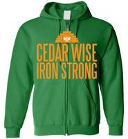 Cedar Wise Iron Strong - Gildan Zip Hoodie