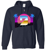 Seven Dimensions - Hot Retro - Gildan Zip Hoodie
