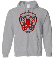 Octopus Apothecary - Can't Keep My Eyes Off, You Gildan Zip Hoodie