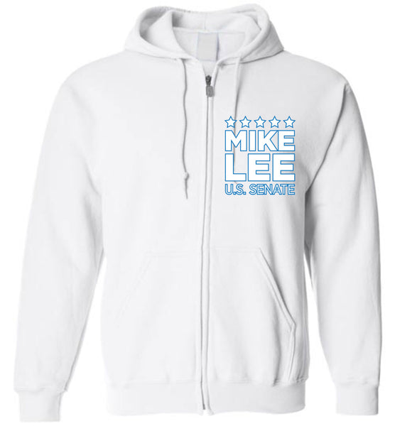 Mike Lee - Separation of Powers - Gildan Zip Hoodie