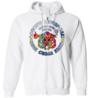 Octopus Apothecary - Tie-Dyed Sky Blue on White 2 - Gildan Zip Hoodie