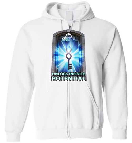 Keystone Achievements: Unlock Infinite Potential: Gildan Zip Hoodie