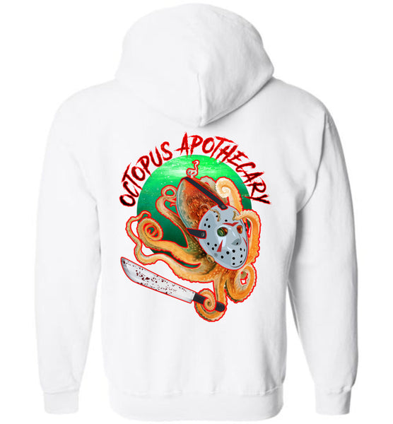 Octopus Apothecary: Murder on 13th Street: Gildan Zip Hoodie