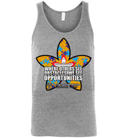 Seven Dimensions - Sherry, Flower - Canvas Unisex Tank