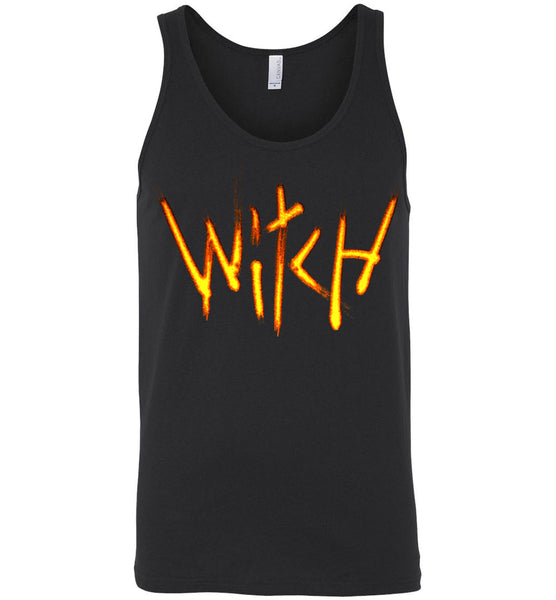 Witch- Fire Text Unisex Tank