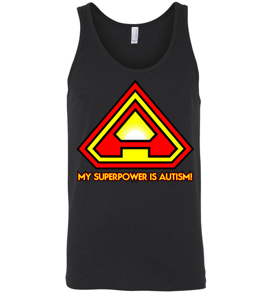 Superpower Autism - single sided - Canvas Unisex Tank