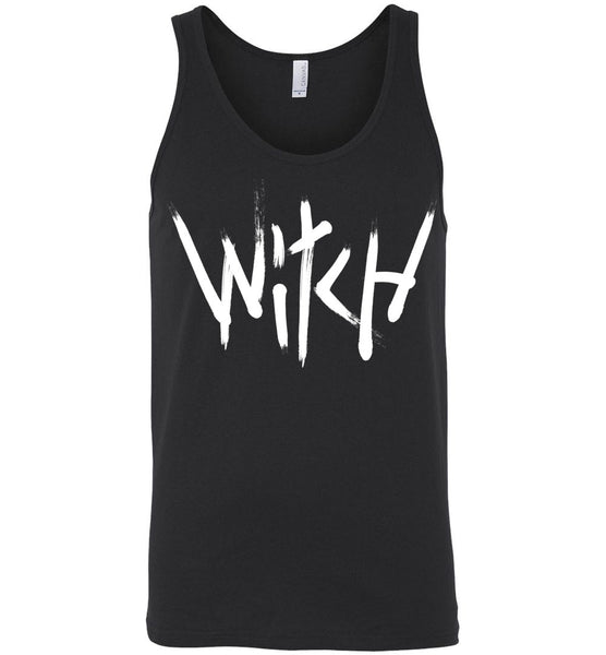 Witch - White Text Unisex Tank