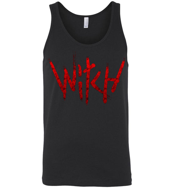 Witch - Red Text Unisex Tank