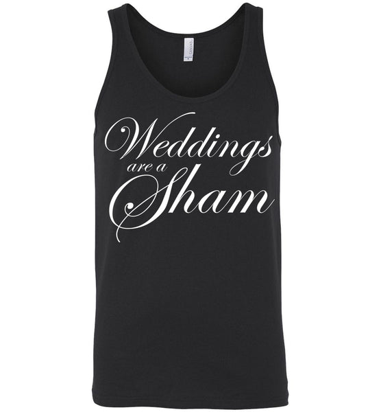 Salvesen: Weddings are a Sham: Canvas Unisex Tank