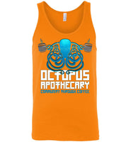 Octopus Apothecary - Coffee, Tanks - Canvas Unisex Tank