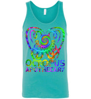 Octopus Apothecary Tie Dye Spiral - Canvas Unisex Tank