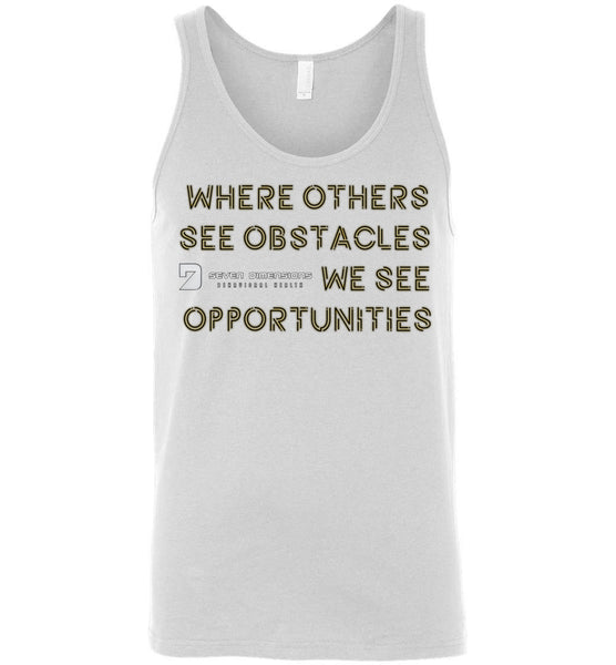 Seven Dimensions - Sherry, Neon - Canvas Unisex Tank