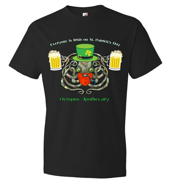 Octopus Apothecary St Patrick - Anvil Fashion T-Shirt