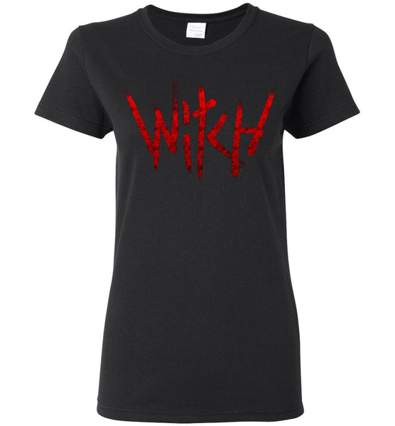 Witch - Red Text Ladies Short-Sleeve