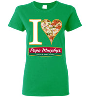 I Heart Papa Murphy's - Gildan Ladies Short-Sleeve