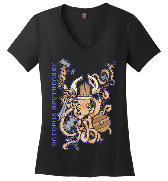 Octopus Apothecary: Viking - District Made Ladies Perfect Weight V-Neck