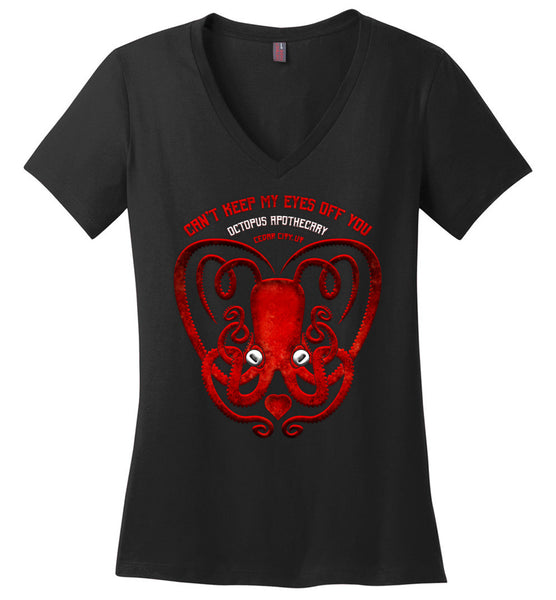 Octopus Apothecary: Valentine's District Made Ladies Perfect Weight V-Neck