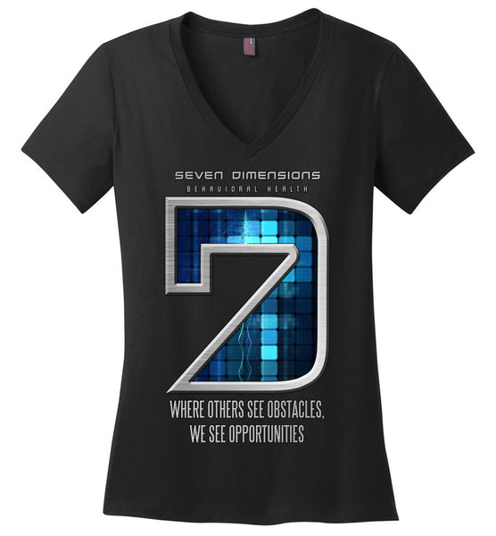 Seven Dimensions: Technomancer - District Made Ladies Perfect Weight V-Neck