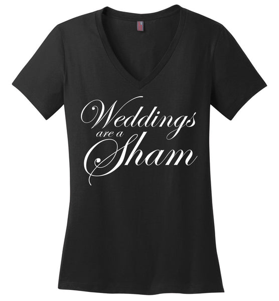 Salvesen: Weddings are a Sham: District Made Ladies Perfect Weight V-Neck