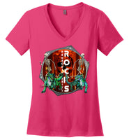Neurodiversity Rocks - Portal - District Made Ladies Perfect Weight V-Neck