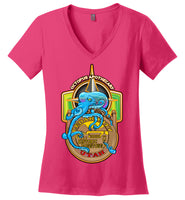 Octopus Apothecary - Nautical - District Made Ladies Perfect Weight V-Neck
