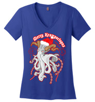 Octopus Apothecary - Krampoctopus - District Made Ladies Perfect Weight V-Neck