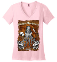 Octopus Apothecary - Old Time Shakespeare - District Made Ladies Perfect Weight V-Neck