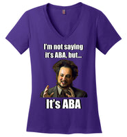 It's ABA - Ladies Perfect Weight V-Neck