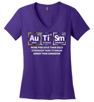 Precious + Strong + Rare = Autism - Ladies Perfect Weight V-Neck