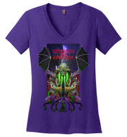 Warlock: CTHULHU FOR AMERICA - District Made Ladies Perfect Weight V-Neck