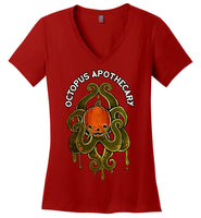 Octopus Apothecary: Pumpkopus: District Made Ladies Perfect Weight V-Neck