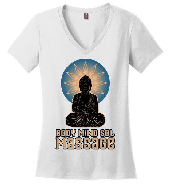 Body Mind Sol - Essential - District Made Ladies Perfect Weight V-Neck