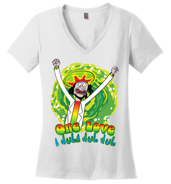 One Love A Duba Dub Dub! - Ladies Perfect Weight V-Neck